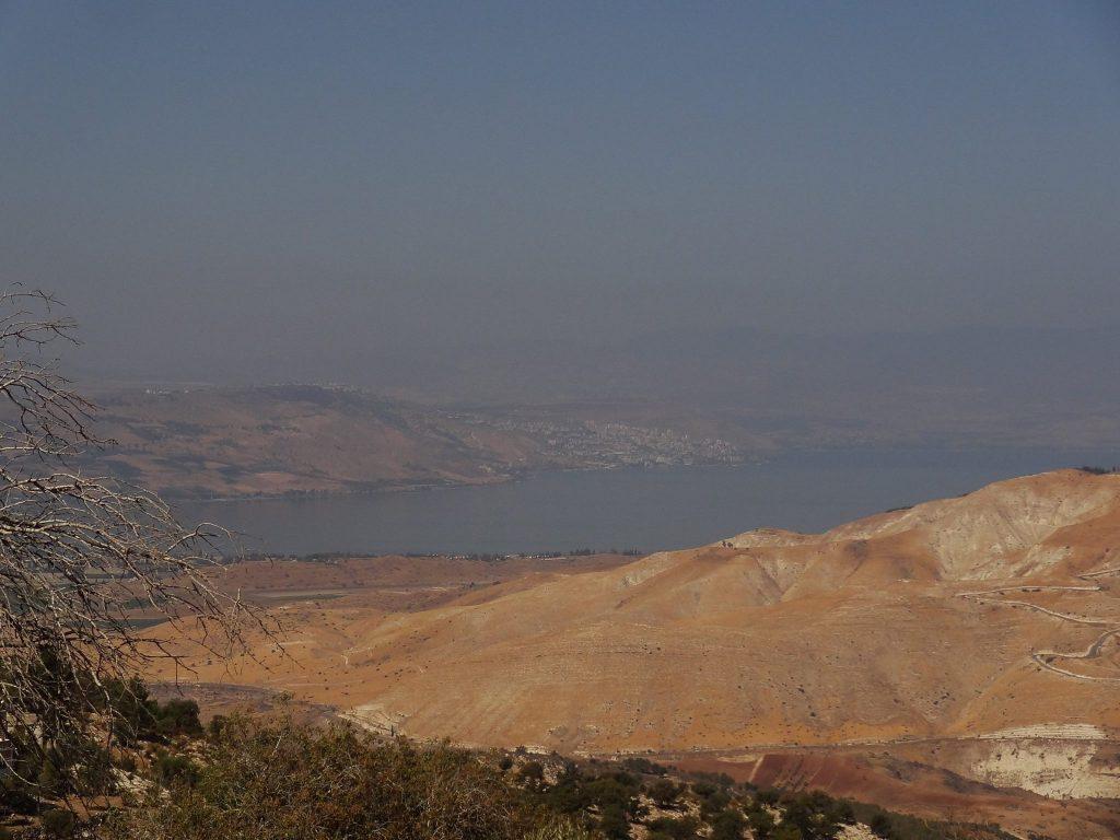 Overlooking the Sea of Galilee from Gadara/Umm Qays