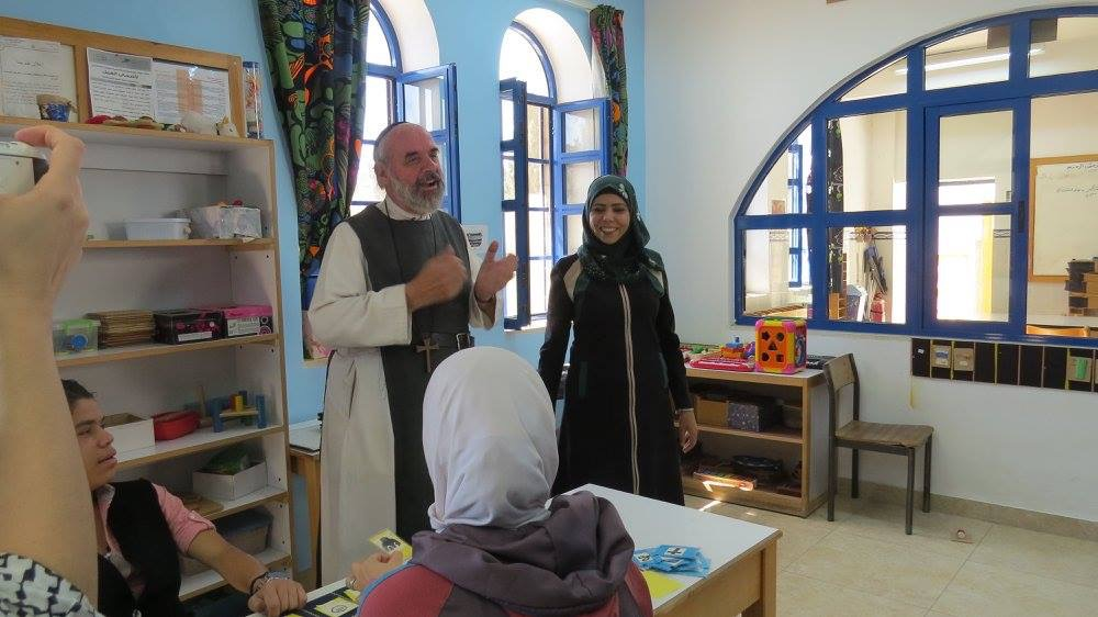 Brother Andrew and Issa who run the Holy Land Institute for the Deaf, a residential school for deaf and blind children.