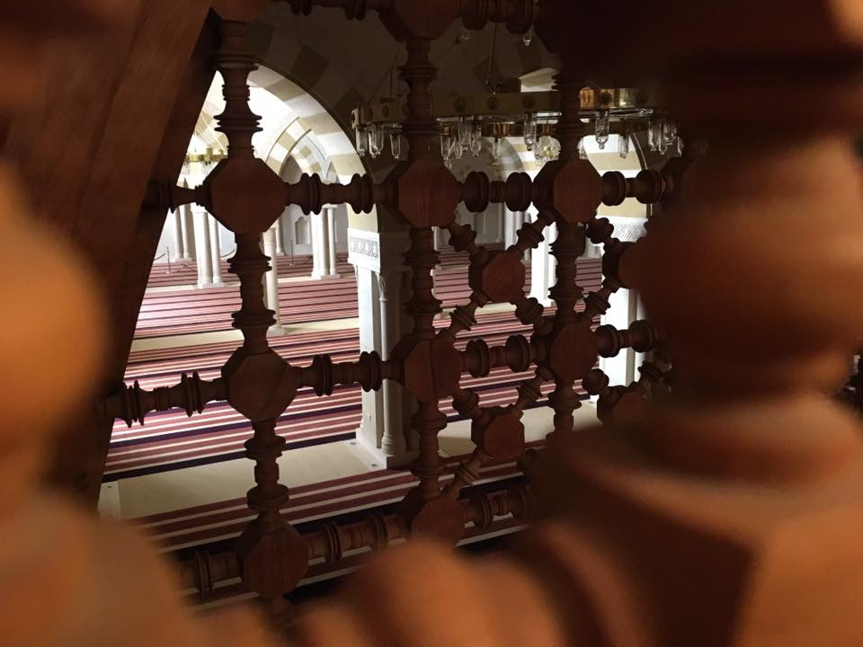 View of the mosque from the women's prayer room