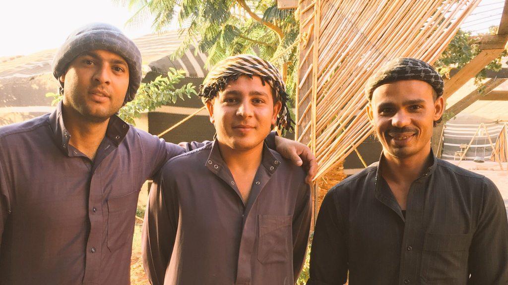 Bedouin hosts at the Wadi Rum campsite