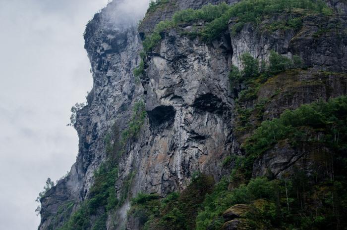 sheer mountainside
