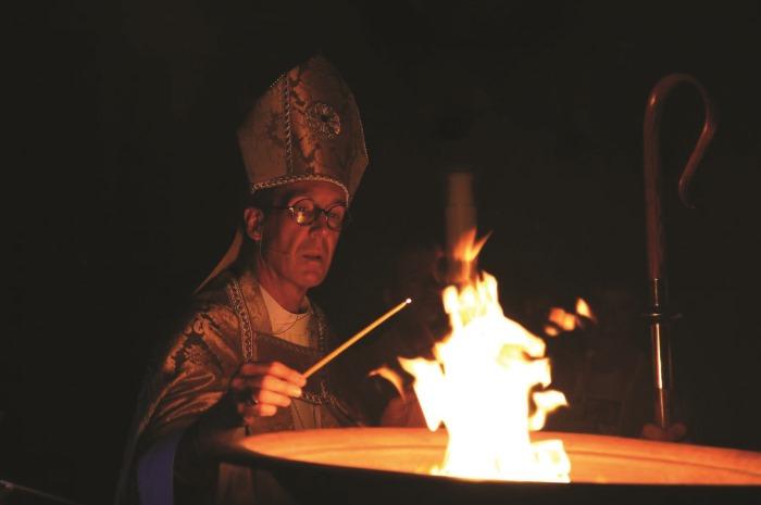 Bishop Mathes Easter Vigil