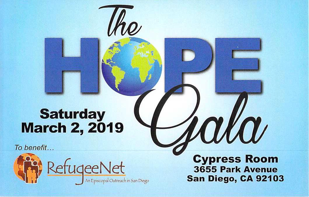 RefugeeNet Gala 2019 - Episcopal Diocese of San Diego