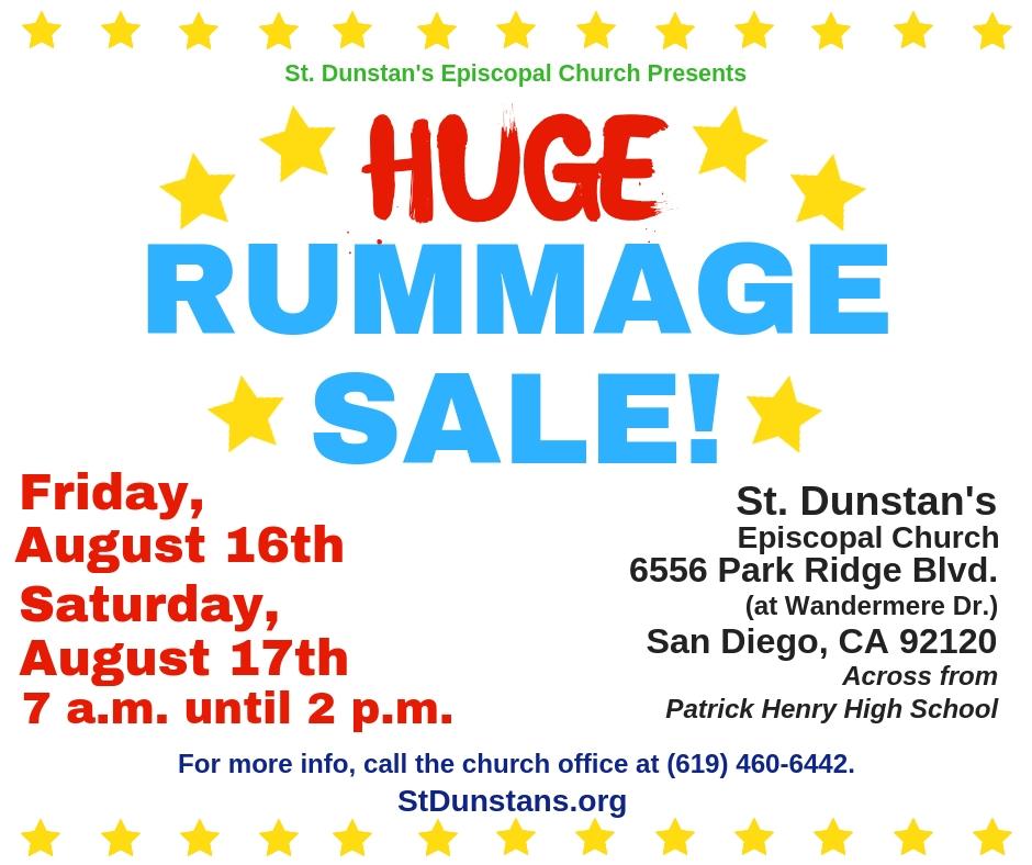 St  Dunstan's Rummage Sale - Episcopal Diocese of San Diego